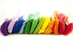 Rainbow thread Royalty Free Stock Photo