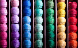 Rainbow threads Royalty Free Stock Image