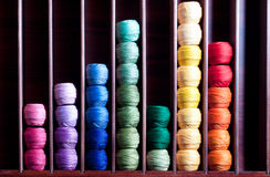 Rainbow threads Stock Image