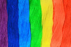 Rainbow threads stock images