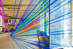 Rainbow threads Stock Photo