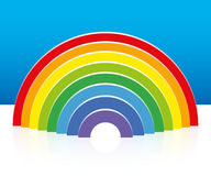 Rainbow Three Dimensional Reflexion Stock Photo