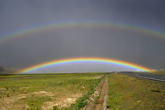 Rainbow. In Tibet, very beautiful Stock Images