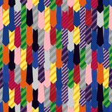Rainbow tie seamless pattern Stock Images