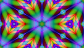 The Rainbow Tile. A fractal / graphic / digital design / background created with a Corel program Royalty Free Stock Photos