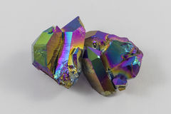 Rainbow Titanium Aura Pair stock image