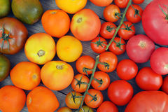 Rainbow from tomato. Stock Photo