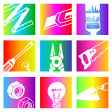Rainbow tools Stock Image