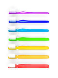 Rainbow toothbrushes Royalty Free Stock Photo