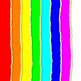 Rainbow torn papers Royalty Free Stock Photo