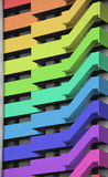 Rainbow tower block Stock Photography