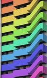 Rainbow tower block Stock Photography