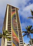 Rainbow tower mosaic in waikiki Royalty Free Stock Photos