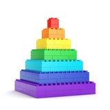 Rainbow toy block pyramid Royalty Free Stock Photography