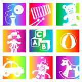 Rainbow toys Royalty Free Stock Photo