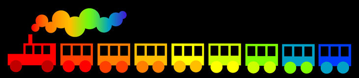 Rainbow train Royalty Free Stock Images