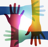 Rainbow transparency hands EPS10 Royalty Free Stock Photo