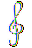 Rainbow treble clef Stock Photo