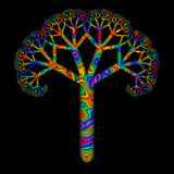 Rainbow Tree stock illustration