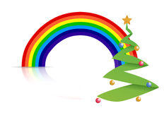 Rainbow tree illustration design Stock Photography