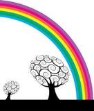 rainbow trees απεικόνιση αποθεμάτων