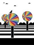 Rainbow trees Royalty Free Stock Image