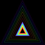 Rainbow triangle in another triangle Stock Images