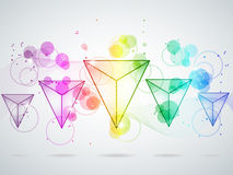 Rainbow triangles Royalty Free Stock Images