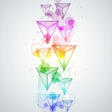 Rainbow triangles Stock Photography