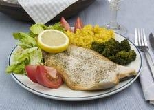 Rainbow trout dinner Royalty Free Stock Photos