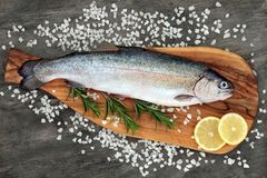 Rainbow Trout Healthy Heart Food Royalty Free Stock Images