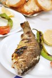 Barbecued trout fish from Eastern Turkey royalty free stock photography