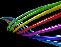 Rainbow tubes Stock Photo