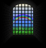 Rainbow in the tunnel Royalty Free Stock Photos