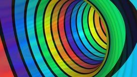 Rainbow Tunnel flight, loop. Rainbow Tunnel flight loop, video footage stock video