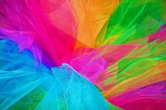 Rainbow Tutu. Closeup image of bright rainbow colored tutu Stock Photography