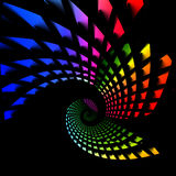 Rainbow Twirl Royalty Free Stock Photo