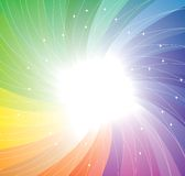 Rainbow twirl background. Vector Royalty Free Stock Photography