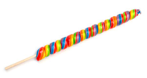 Rainbow Twirl Lollipop Candies Royalty Free Stock Photos