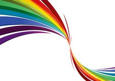 Rainbow twist. Twisted rainbow design with stripes Stock Photo