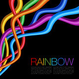 Rainbow Twisted Bright Vibrant Wares Royalty Free Stock Photos