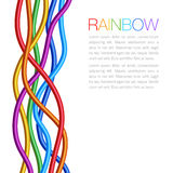 Rainbow Twisted Bright Vibrant Wares Royalty Free Stock Images