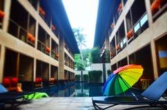 The rainbow umbella Royalty Free Stock Photography