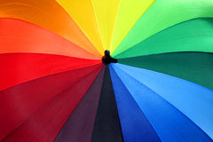 Rainbow Umbrella 1. Multicolored umbrella brings brightness on rainy days Royalty Free Stock Photos