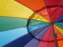 Rainbow umbrella. Rainbow color umbrella, red, green, blue Royalty Free Stock Photography