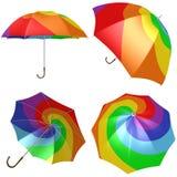 Rainbow umbrella Stock Image