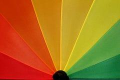 Rainbow Umbrella 3. Close-up around Gold color Stock Photos