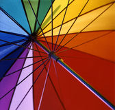 Rainbow umbrella stock photo