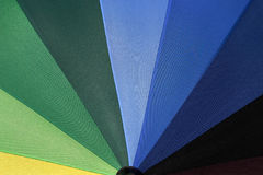 Rainbow Umbrella 4. Close-up around blue color royalty free stock image