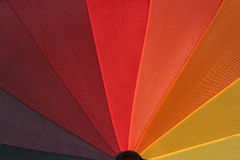 Rainbow Umbrella 5. Close-up around red color royalty free stock photography